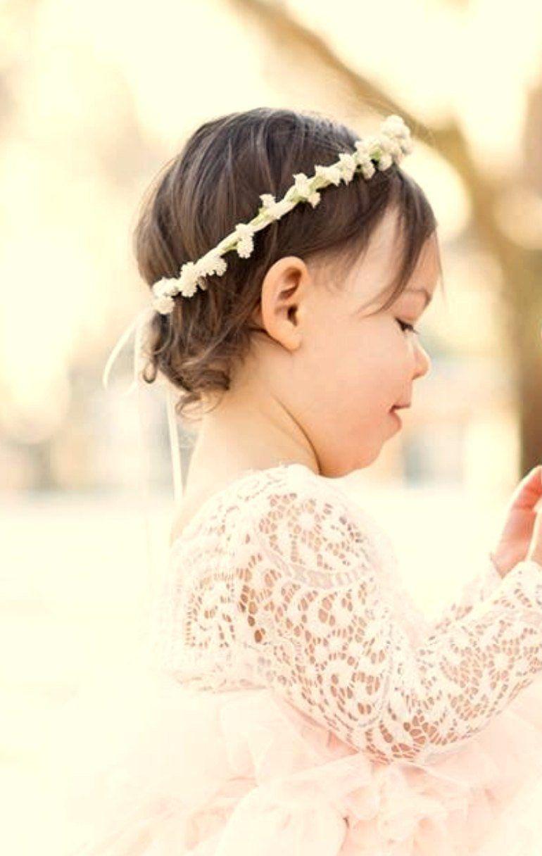 Child flower crown women bridal hair accessories ivory