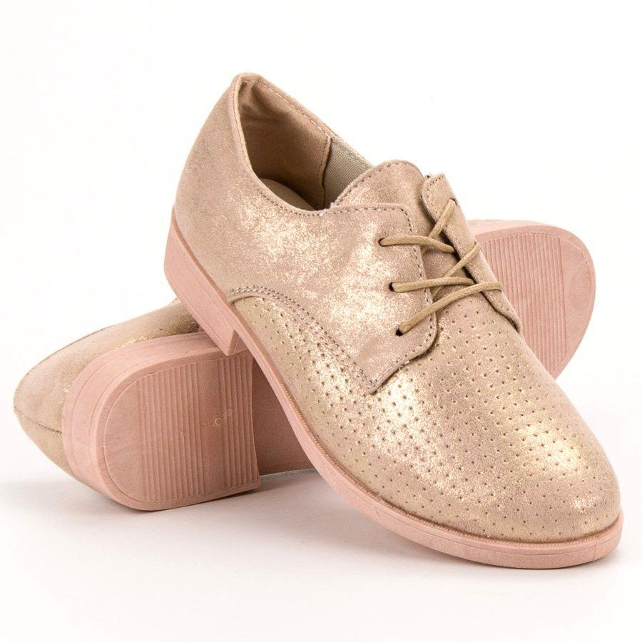Bless Eleganckie Polbuty Damskie Zolte Dress Shoes Men Womens Oxfords Oxford Shoes
