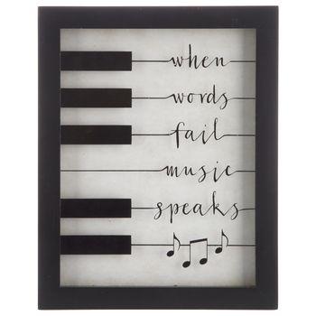 Music Speaks Framed Wall Decor #musicdecor