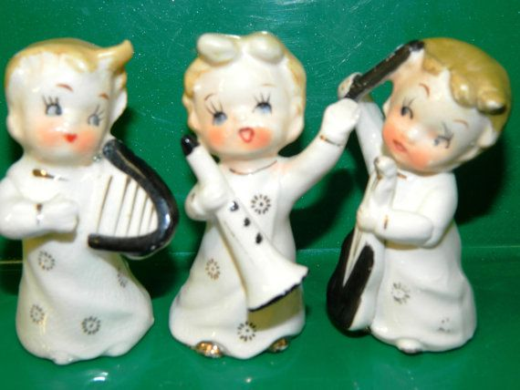 Vintage Christmas Figurines Made in Japan by TheIDconnection, $18.00...really REALLY want these