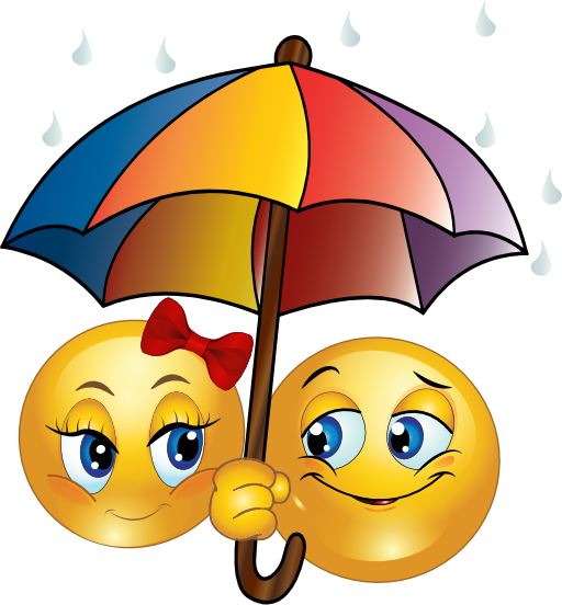 Darling Umbrella Couple Funny Emoji Faces Smiley Emoji Love