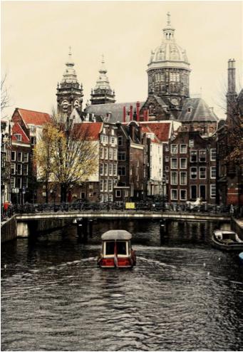 ... o quizás a un lugar más frío. Amsterdam.