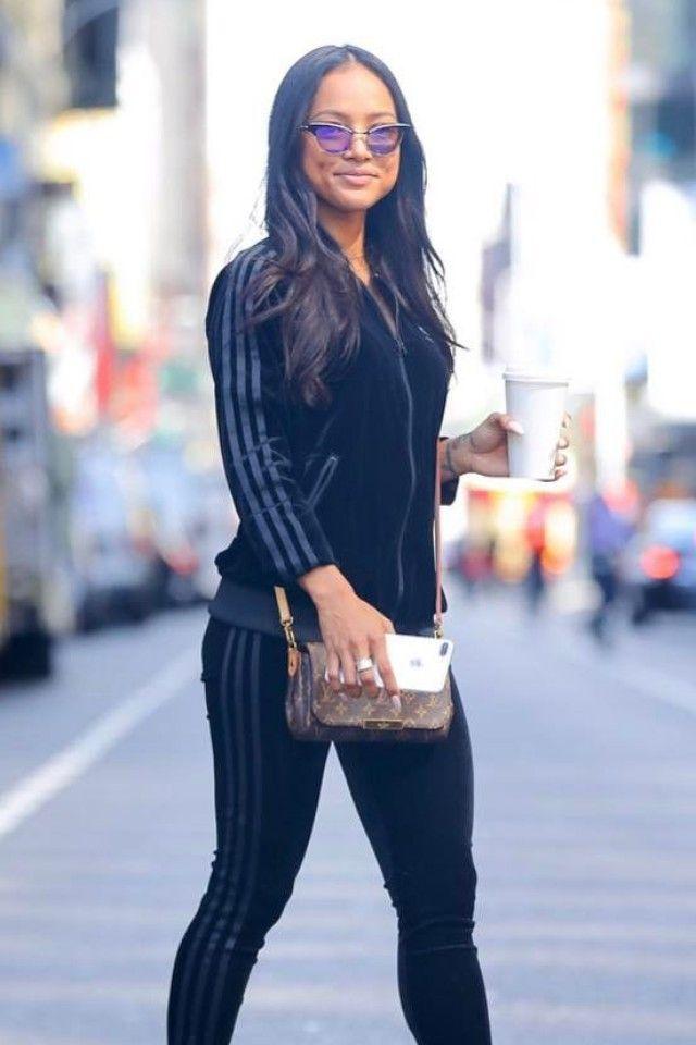 Karrueche Tran wearing Adidas Velvet Vibes Track Jacket