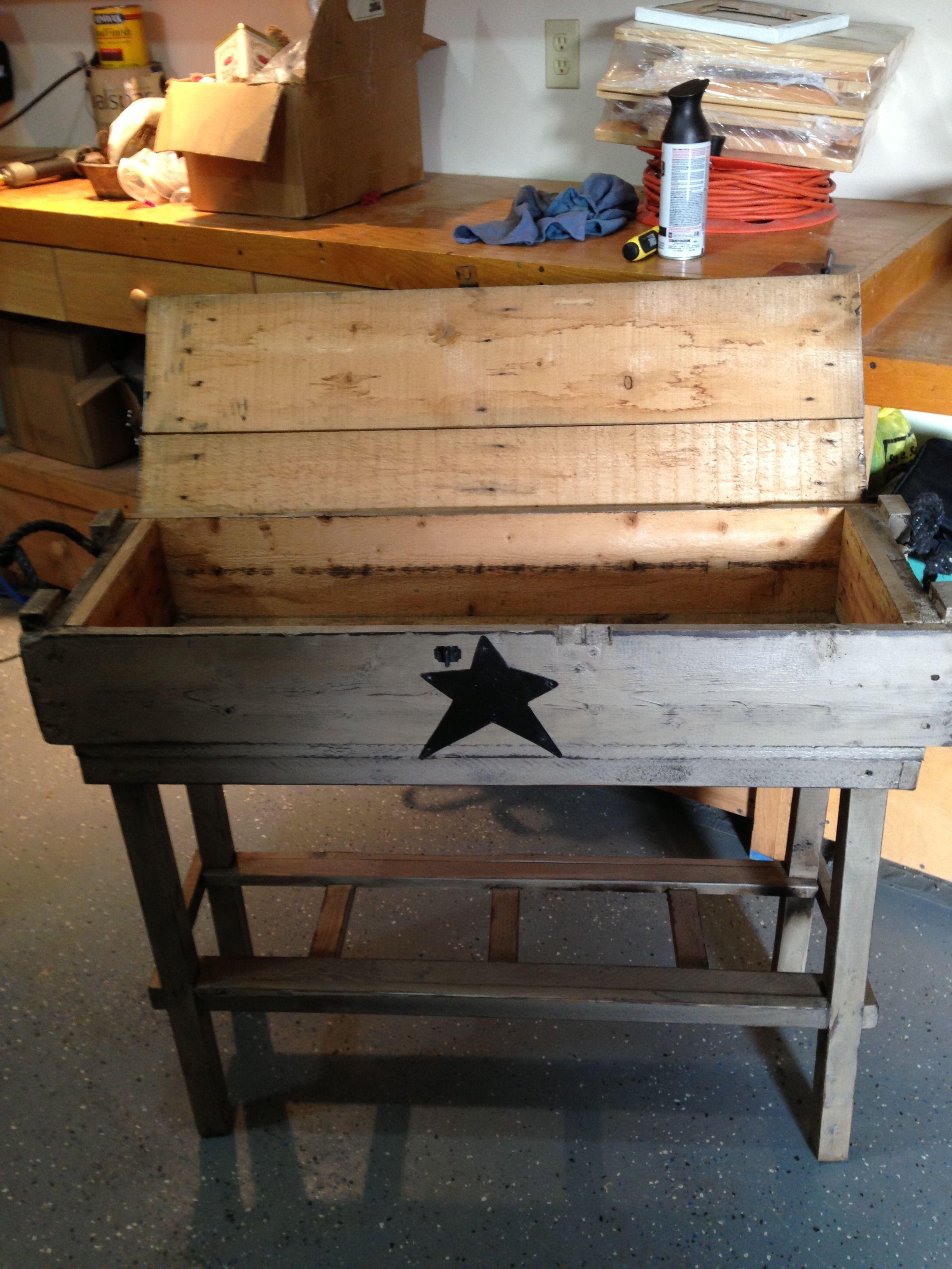 Ammo Box Table/Storage | Rustic wood crafts, Scrap wood ...