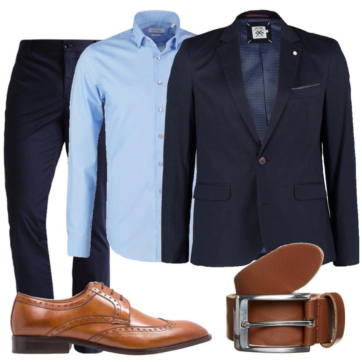 Sfumature di blu: outfit uomo Business/Elegante per ufficio e serata  speciale | Bantoa