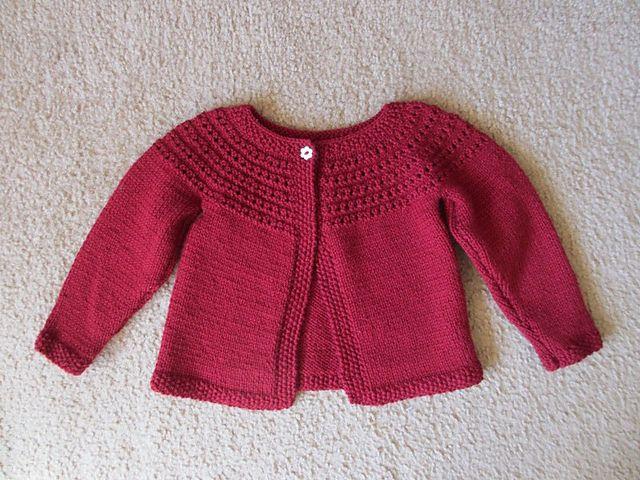 Ravelry: Eloise Eyelet Cardi pattern by Lion Brand Yarn | ❤ Baby ...