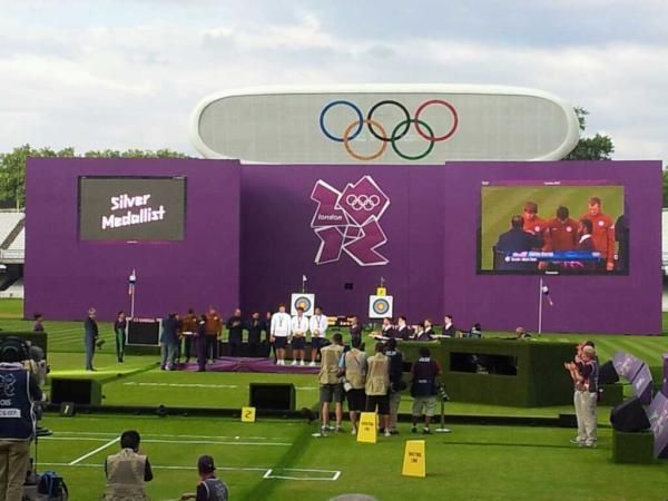 Congratulations to the USA men's Archery Team for receiving the first medal for the USA on the 1st day.