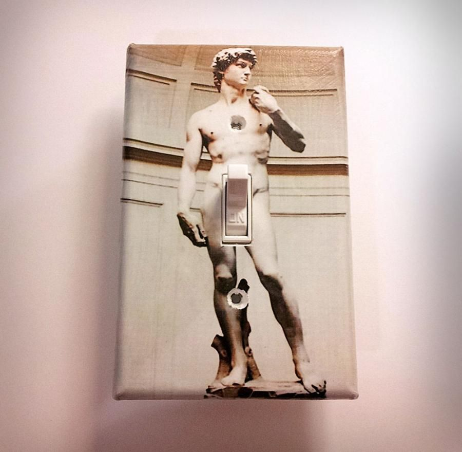 Unique Light Switch Covers Michelangelo's David Dirty Light Switch Plate  Unique Gifts