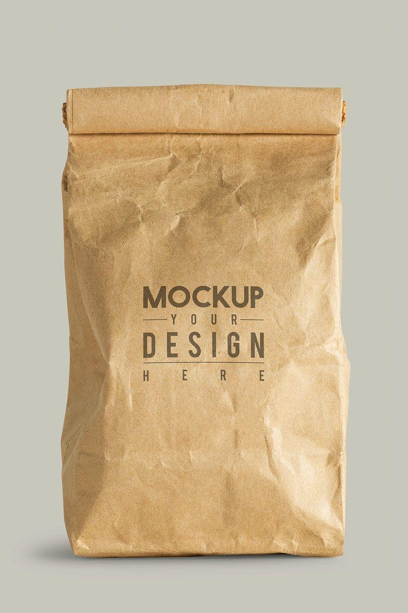 Download Download Premium Illustration Of Rolled Brown Paper Bag Mockup With Copy Bag Mockup Paper Bag Design Brown Paper Bag