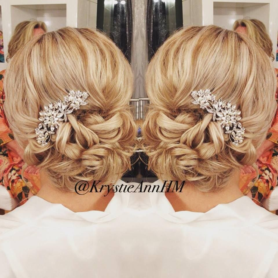 Loose Beachy Effortless Bridal Hair Bridal Hair: An Elegant Beachy Updo