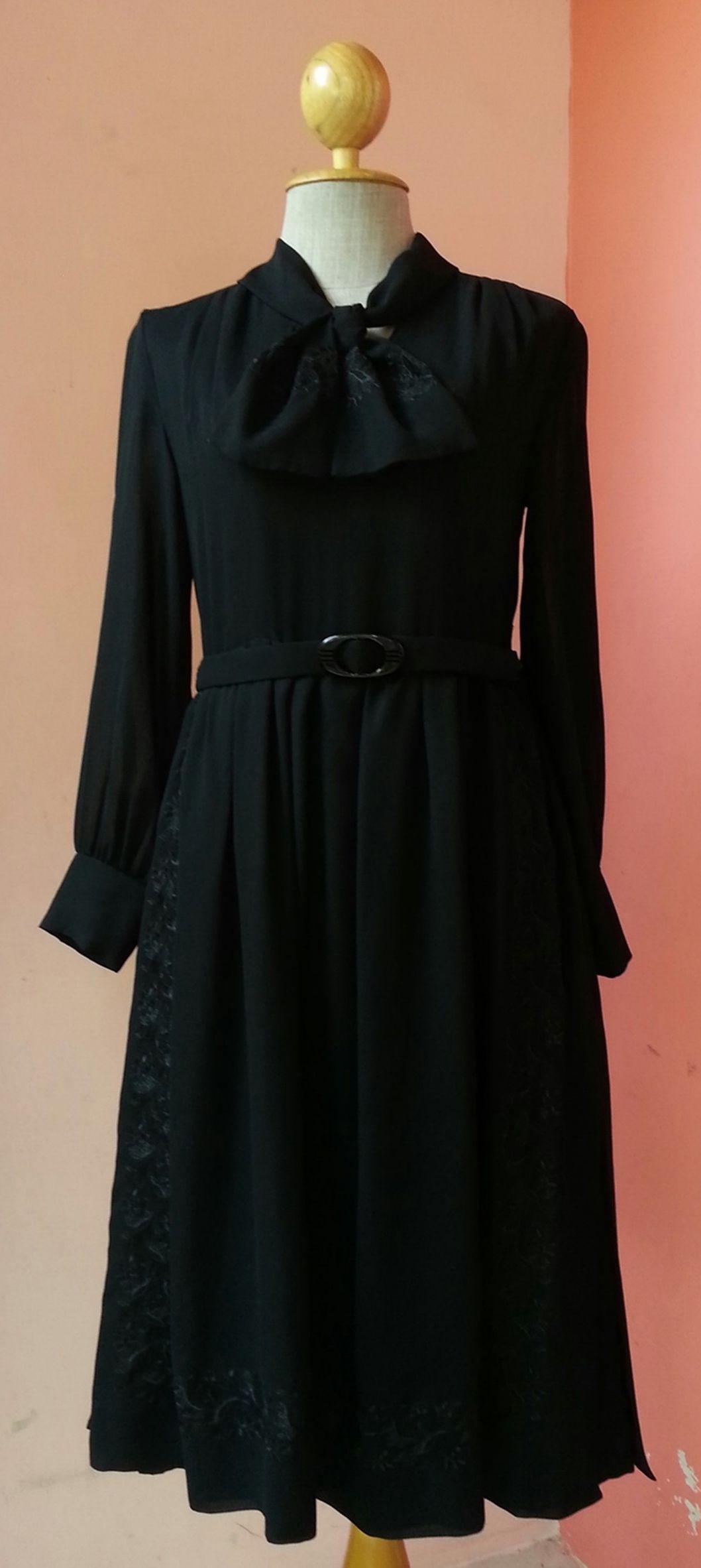 S black dress vintage black prom dress black cocktail dress black