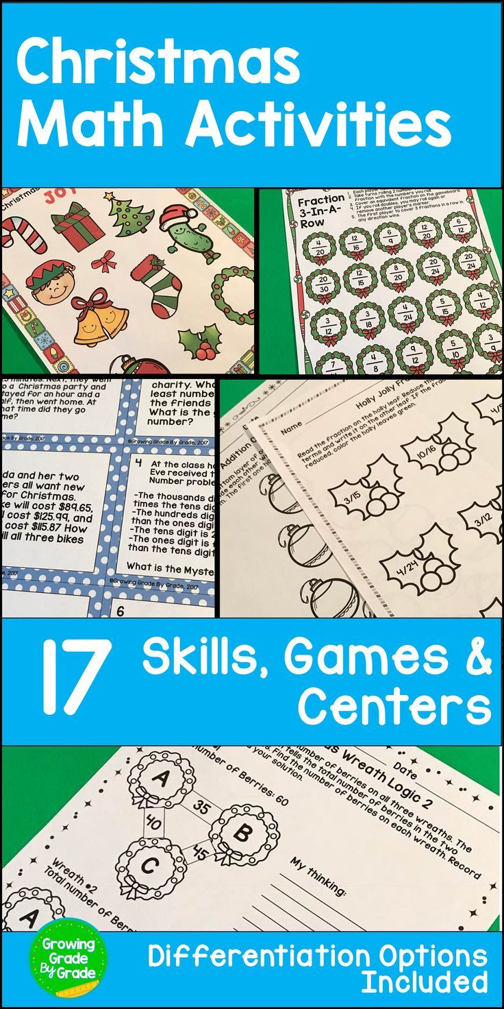Christmas Math Activities | Pinterest | Christmas math, Group ...