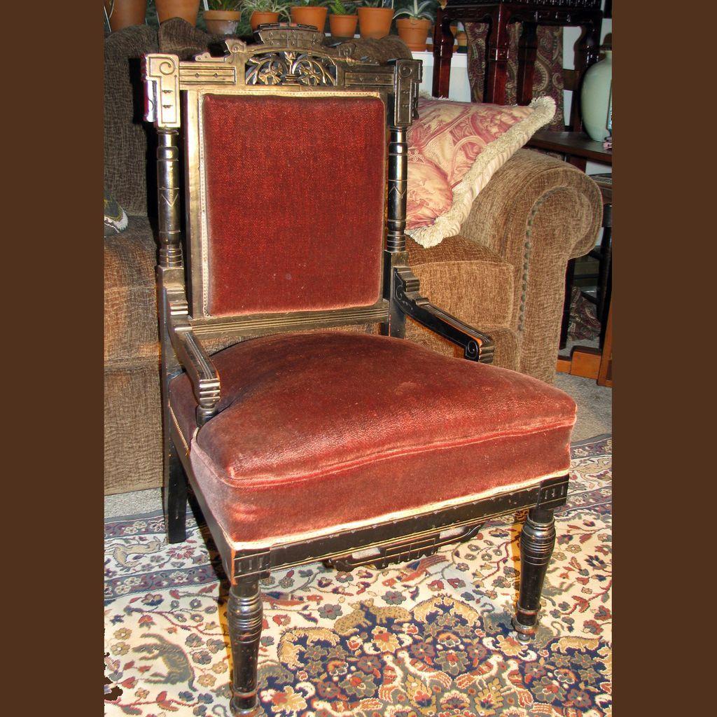 Antique Ebonized Aesthetic Eastlake Movement Side Chair - Antique Ebonized Aesthetic Eastlake Movement Side Chair Aesthetic