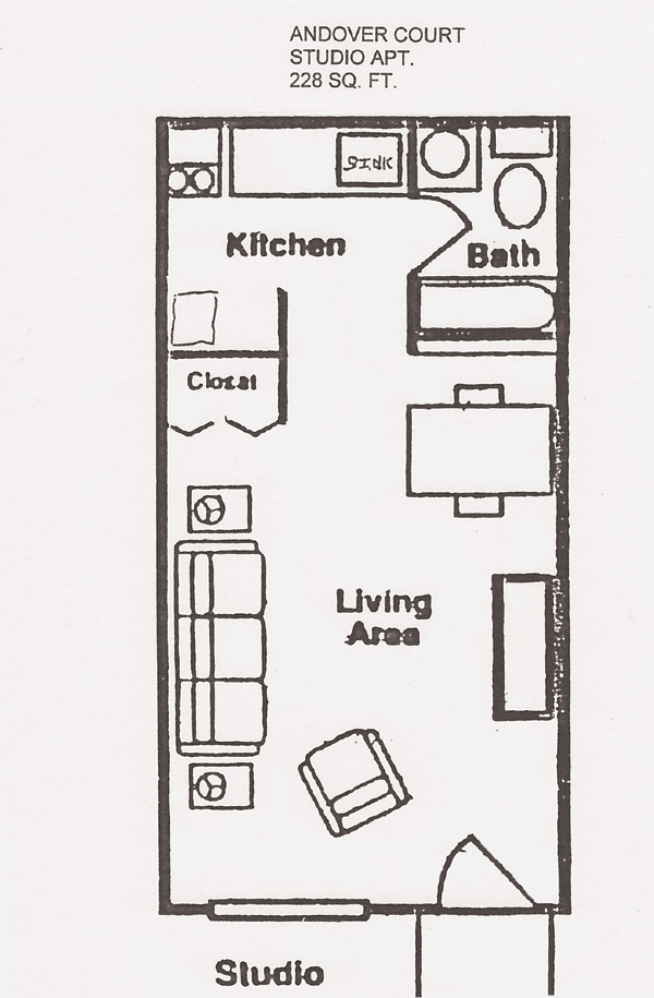 Studio Apartment Design | is a studio apartment with 1 bathroom this is a 1  bedroom. Studio Apartment Floor PlansStudio ...