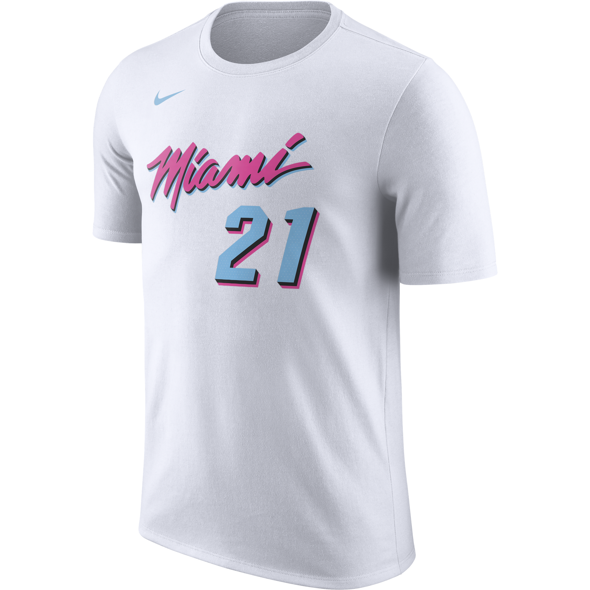 Hassan Whiteside Nike Miami HEAT Vice Uniform City Edition Name & Number  Tee - featured image