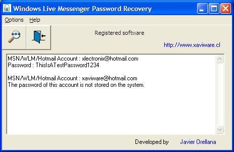 We have a tool Called Windows Live Messenger Password Recovery, this