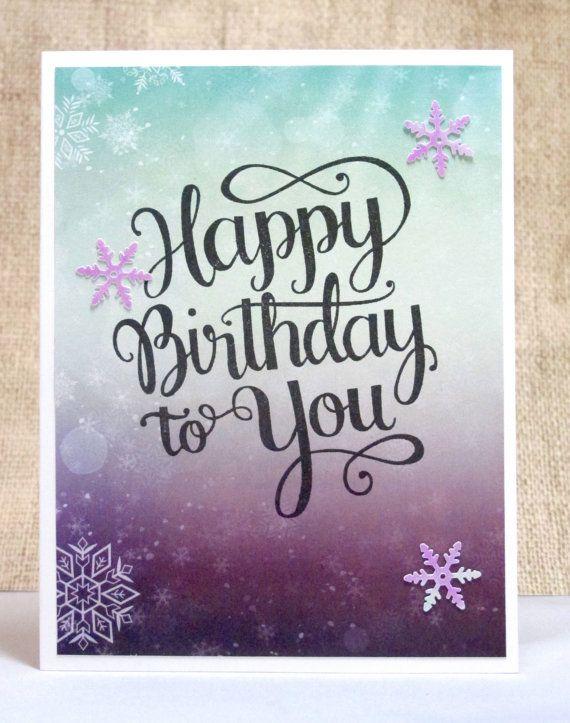 Birthday Card Happy Birthday Winter Birthday Card By Doodleshop