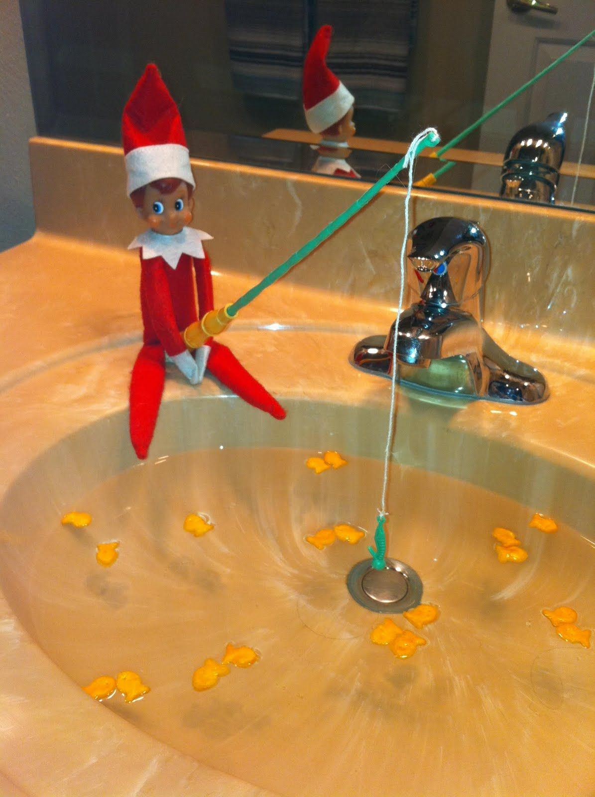 yep jingles our elf will definitely be fishing in the