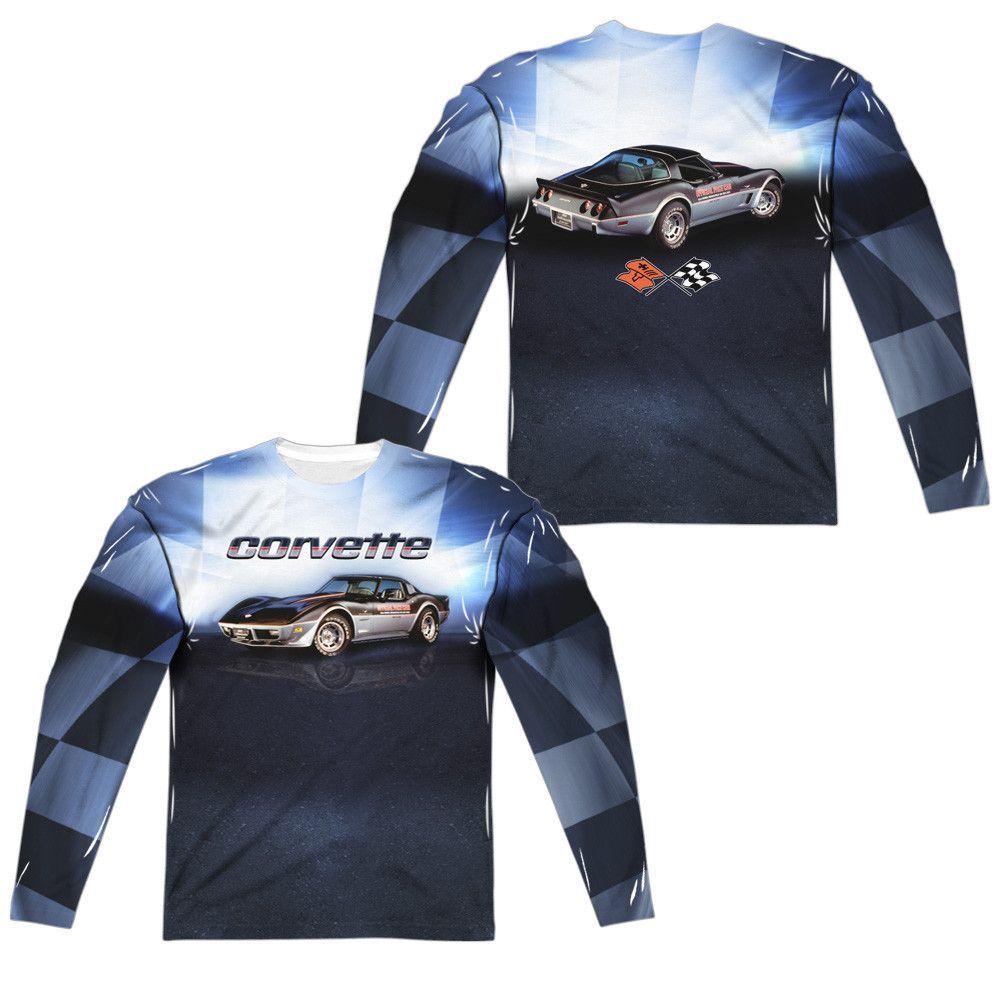 Chevy - Blue Vette Check Flag (Front - Back Print)