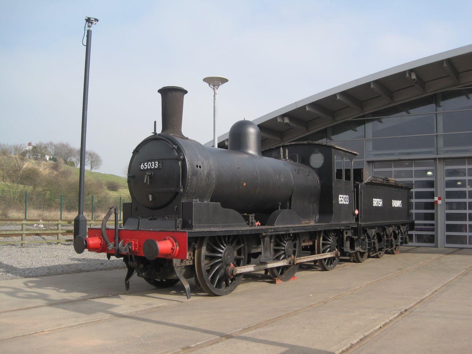 North Eastern Railway J21 65033, 'Locomotion'  Shildon 14/03