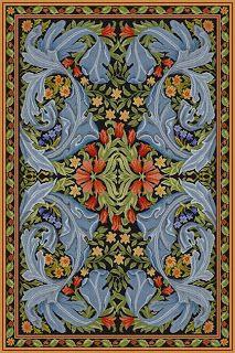 William Morris rug - I want dis rug for mah hoooooooooooooooooooome!