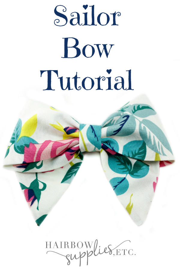 This is an adorable sailor hair bow to make! The fabric hair bow is an excellent DIY project to make with a sewing machine and it is a quick project! It makes such adorable fabric bows in no time at a is part of Diy hair bows -