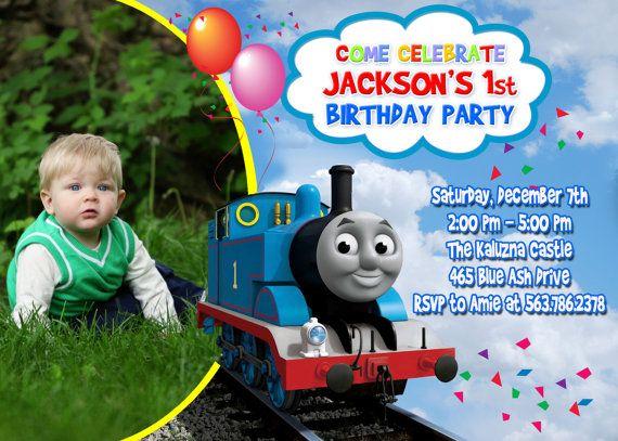 thomas the train birthday party invitation by fantasticinvitation 899 - Thomas The Train Party Invitations