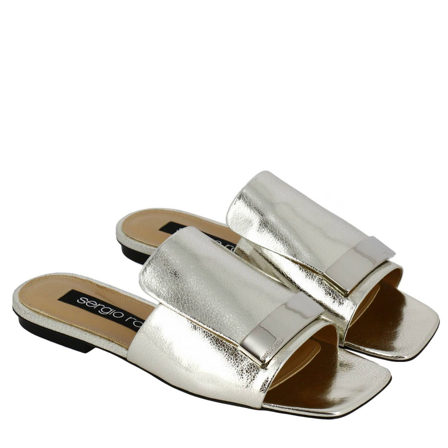 Sergio Rossi Textured Strap Mules Outlet Get Authentic jA2ZTNkLh