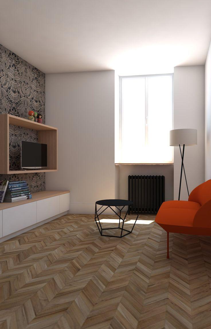 nice Déco Salon - Petit salon décoration couleur. Canapé orange ...