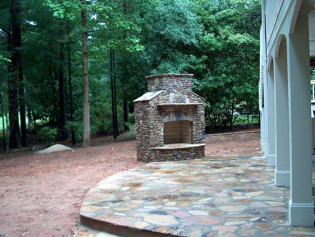 Fieldstone Exterior Chimney Fireplace Luxury Hardscaping Ideas Luxury Hardscaping Ideas Luxury Hardscaping Ideas Hardscape Patio Patio