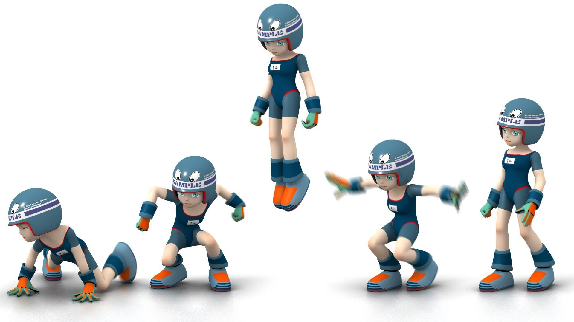 Vertical Jump : Key frame Animation : 牛山雅博   animation ...