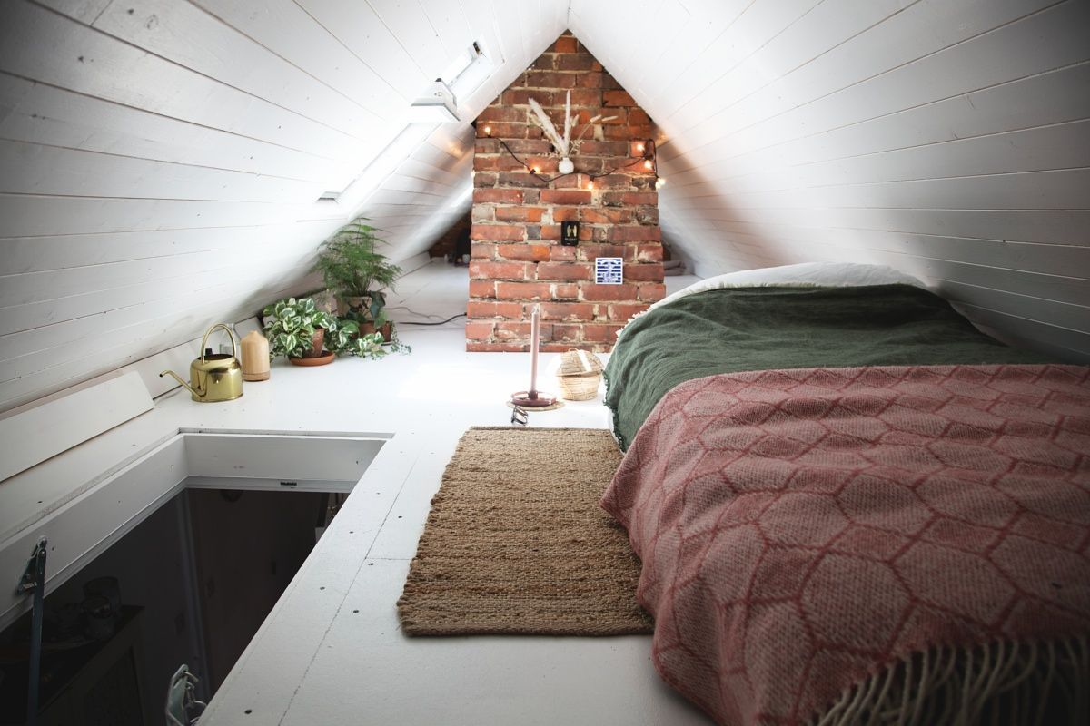 Tiny Loft Conversion Artemis Russell In 2020 Tiny Loft Small Loft Bedroom Small Loft Spaces