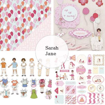 Making Memories - Sarah Jane -look at that balloon paper! cute! Perfect for cards!
