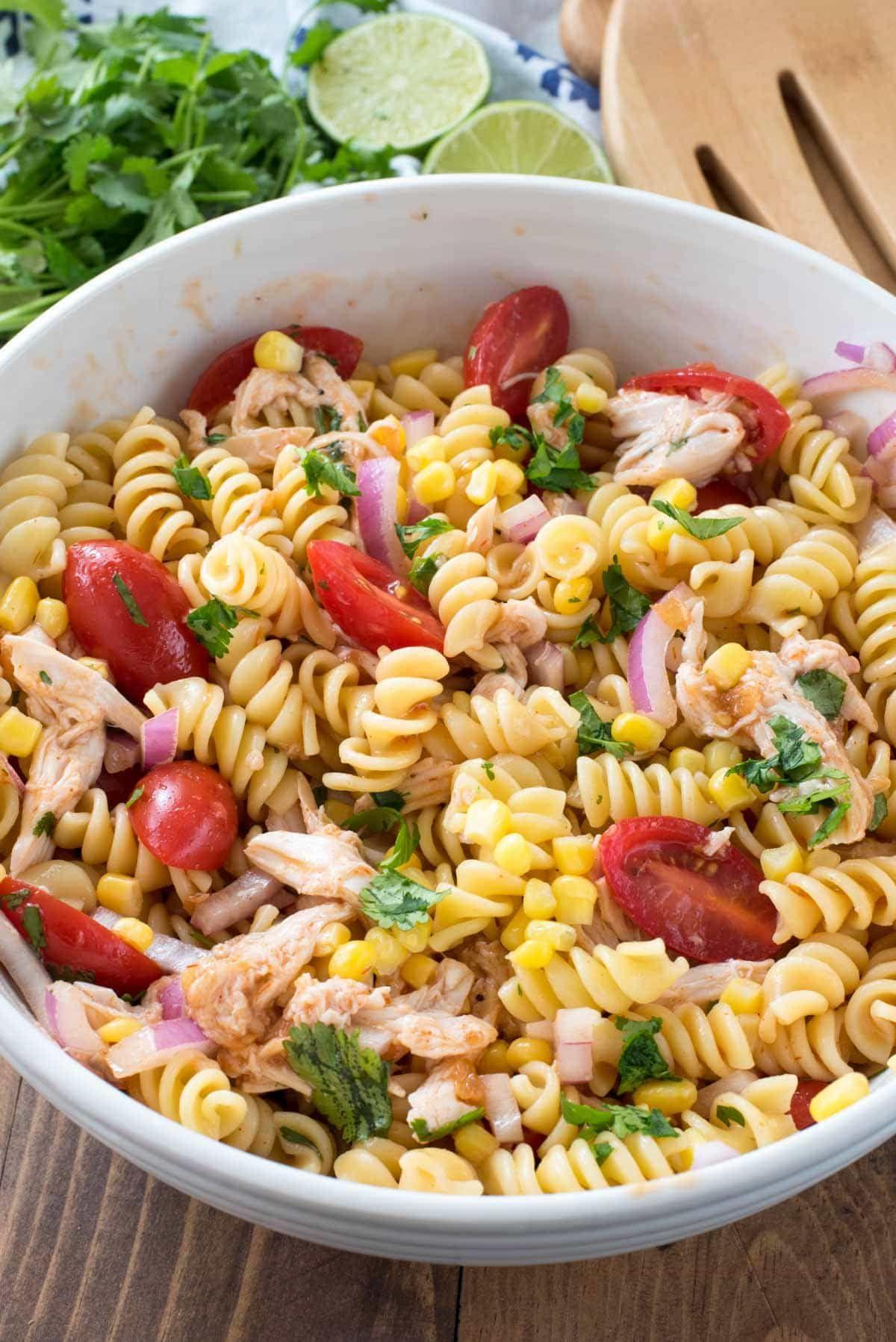 Bbq Chicken Pasta Salad Crazy For Crust Recipe Chicken Pasta Salad Recipes Bbq Chicken Pasta Pasta Salad Recipes