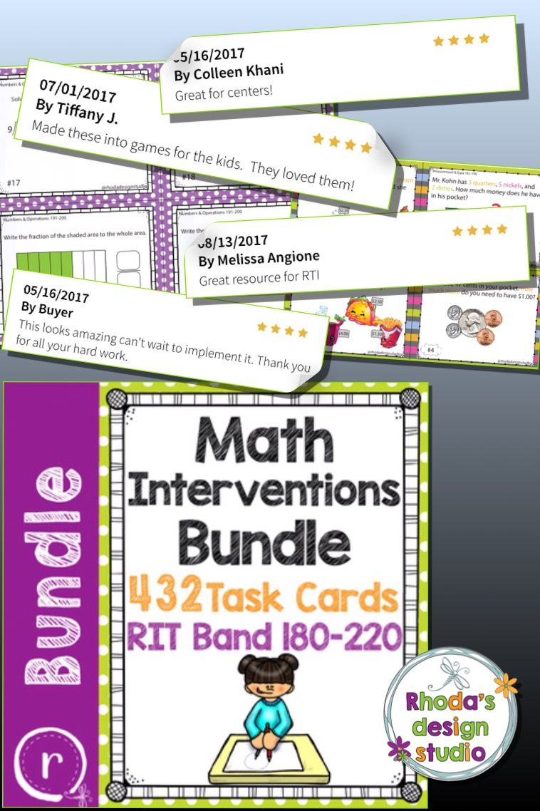Standardized Test Prep Interventions Maps RIT Band 181-220 Full Bundle