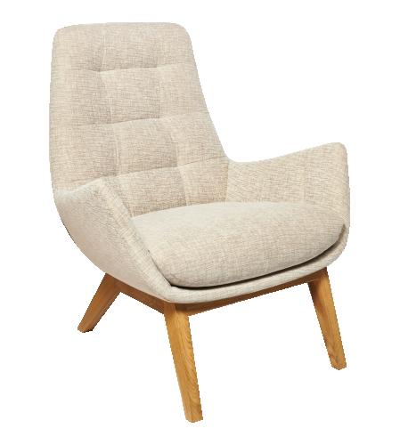 Dena Sessel aus Stoff, beige meliert (www.habitat.fr)