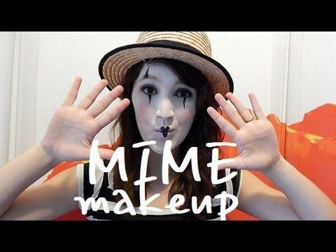 MIME MAKEUP - YouTube | Halloween | Pinterest | Mime makeup ...