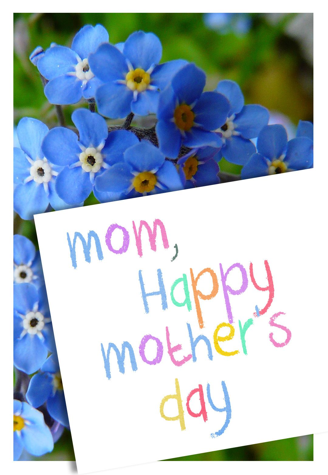 free printable mothers day flowers greeting card mothersday