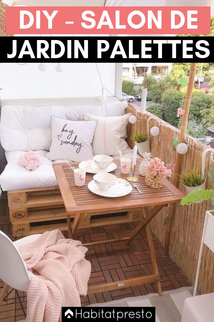 Salon de jardin en palettes : 16 idées déco originales -  Pallet