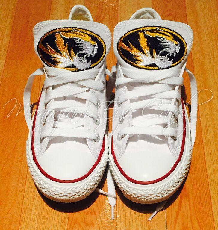 e7271150bb71cf Customized Converse Sneakers-MIZZOU Edition- White – Monogram Eye Candy