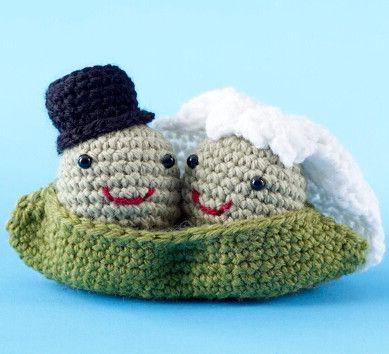 Cutest Wedding Gift Ever Two Peas In A Pod Amigurumi Crochet Pattern