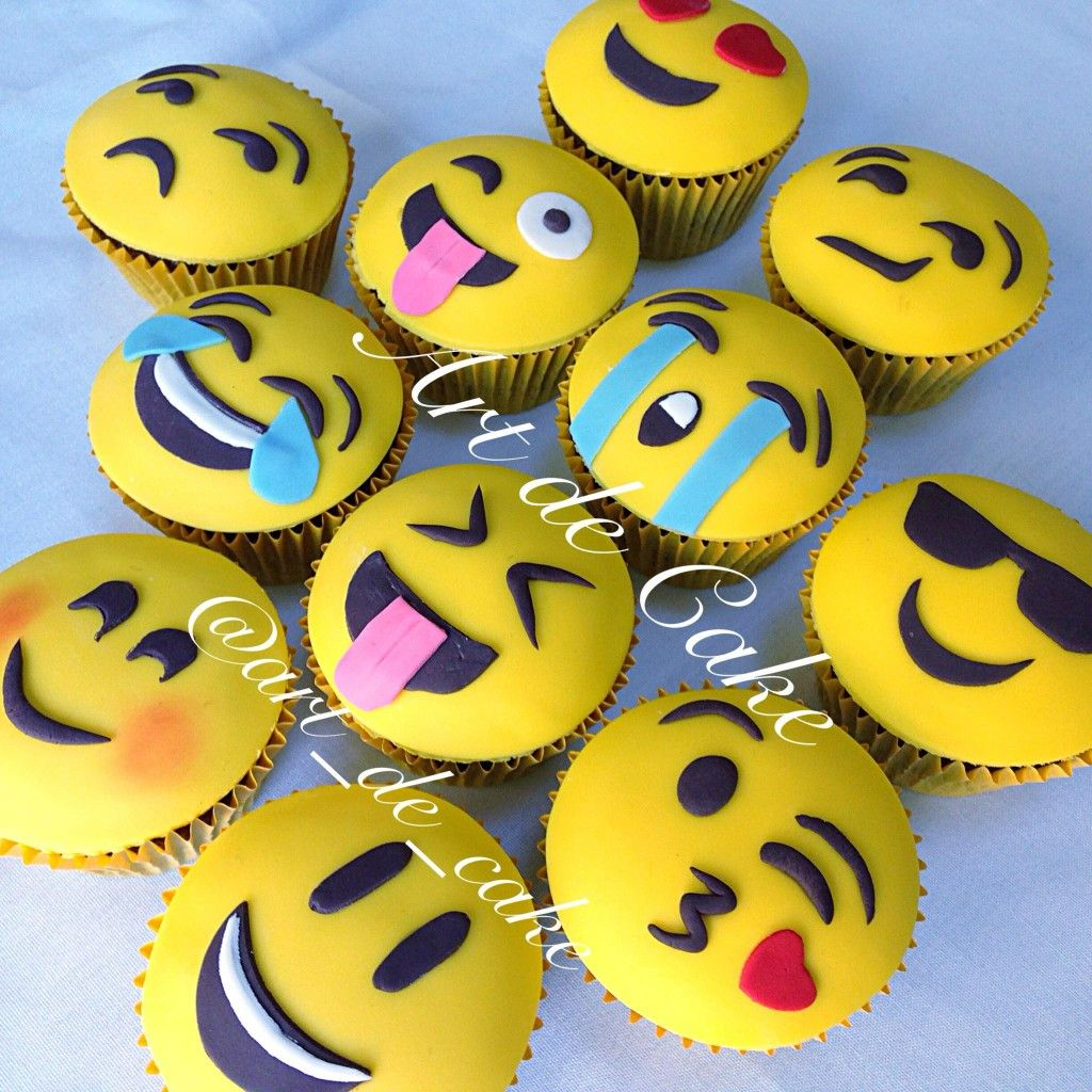Emoji Cupcake Hannah S Party Pinterest Emoji Cake And Cup Cakes