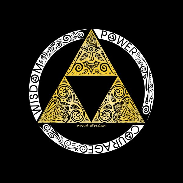 Triforce Symbol With Sword