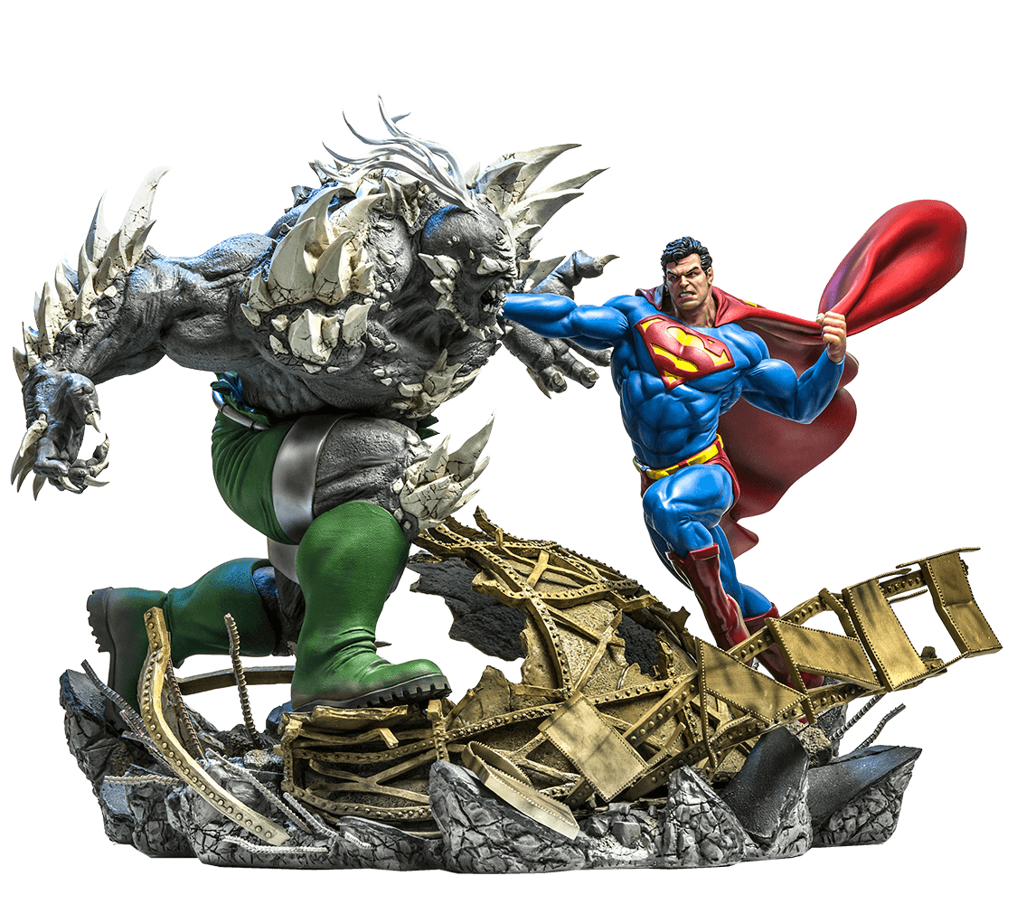 Estatua SUperman Vs Doomsday 1 6 Battle Diorama - Iron Studios  c12a678e8cb