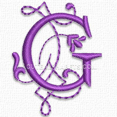 This Free Embroidery Design Is From Cute Embroiderys Purple Heart Font Its The Letter G