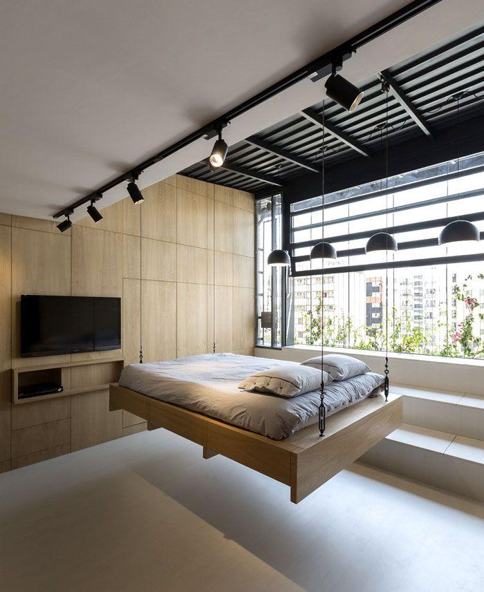 Space Saving Furniture Ideas Loft Bedroom Interiors: Space-Saving Design Idea At 45m2 Apartment