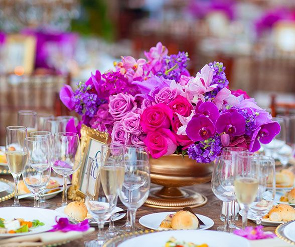 Purple Wedding, Radiant Orchid, California Outdoor Wedding || Colin Cowie Weddings