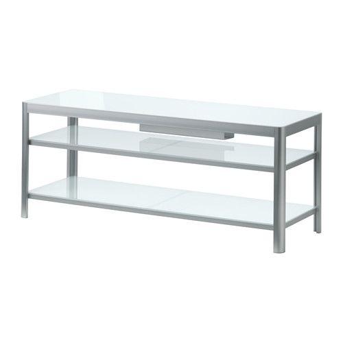 Glazen Tv Meubel Ikea.Gettorp Tv Meubel Wit Aluminium Kastbord Tv Bank