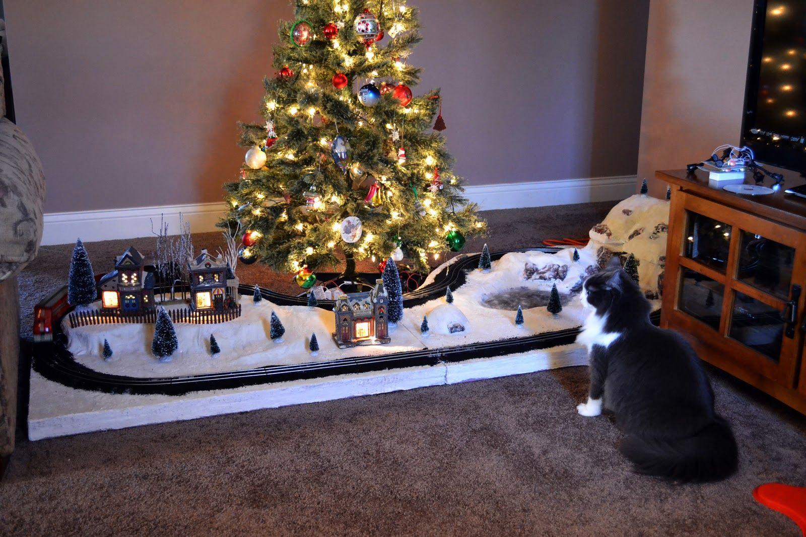 model trains geography under the christmas tree marx layout presentation - Train Under Christmas Tree