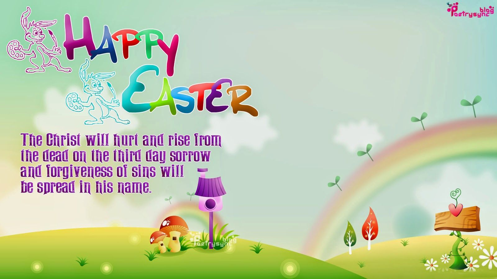 Happy easter wishes flowers sms wallpaper easter pinterest easter messages for cards kristyandbryce Choice Image
